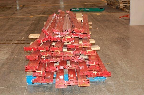 18: Ridge-U-Rack Red Steel Beams 4.5inW x 104inL