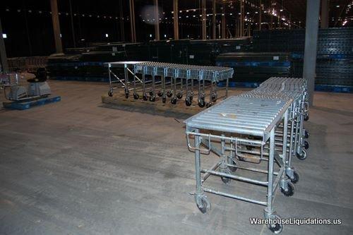336: 1 Used 1 Like New NESTAFLEX-376 Gravity Conveyor