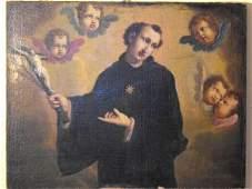 346: Oil on canvas, Italian school XVIII