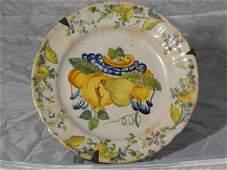 325: Polychrome majolica plate