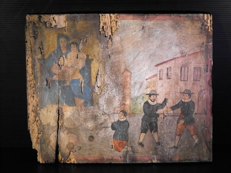 18: ITALIAN HAND PAINTED EX VOTO 17th. C.