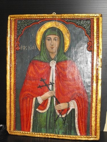 20: ICON TEMPERA ON PANEL 19th. Century