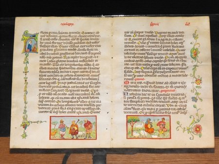 21: ILLUMINATED MANUSCRIPT ON VELLUM 15th, C.