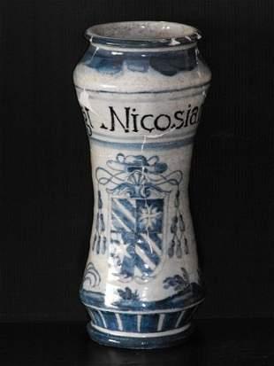 03: ITALIAN MAJOLICA ALBARELLO 17th. Century