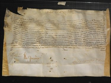 08: VELLUM MANUSCRIPT LICENSE TO FRA PIETRO...