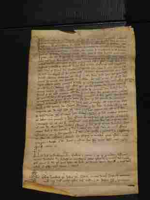 09: VELLUM MANUSCRIPT DATED 1392