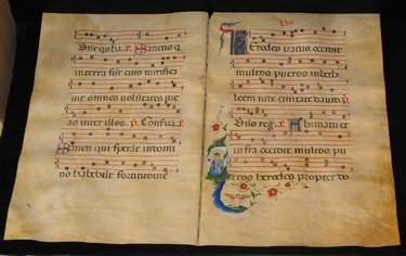60: VELLUM ANTIPHONARY, NERI DA RIMINI (circle of)