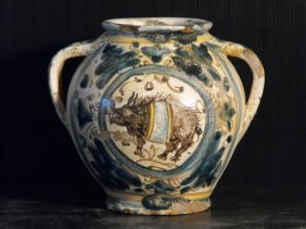10: TWO-HANDLED JAR, TUSCANY END OF 15th..C.