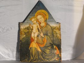 """20: AFTER LIPPI FILIPPO , OIL ON WOOD,""""MADONNA WITH CH"""