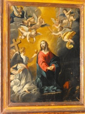24: MANNER OF GUIDO RENI,OIL ON COPPER