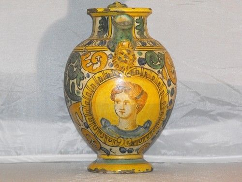 01: SYRUP JAR WITH FIGURE OF A WOMAN 19th. C.