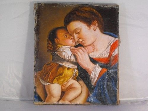 03: MADONNA WITH CHILD, OIL ON CANVAS 19TH. C.