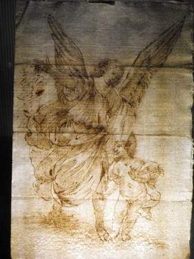 ANGEL WITH CHILD, 17th. C.