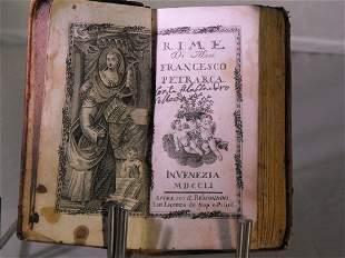 RIME OF FRANCESCO PETRARCA 1751