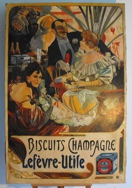 """1: """"Biscuits Champagne"""" Oil on canvas"""