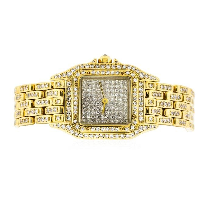 Cartier 18KT Gold 2.50 ctw Diamond Panthere Ladies