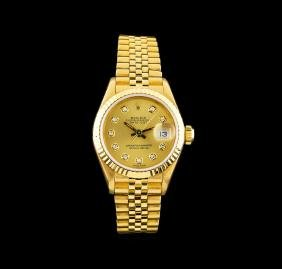 Rolex 18KT Yellow Gold DateJust Ladies Watch