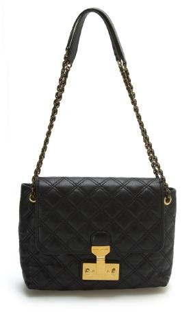 Marc Jacobs Large Single Black Baroque Leather Bag