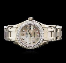 Rolex Pearl Master 18KT White Gold 1.44 ctw Diamond