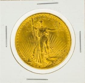 1924 $20 St. Gaudens Double Eagle Gold Coin