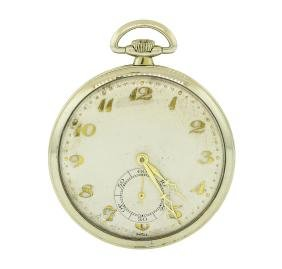 Vintage Movado Pocket Watch - 18KT White Gold