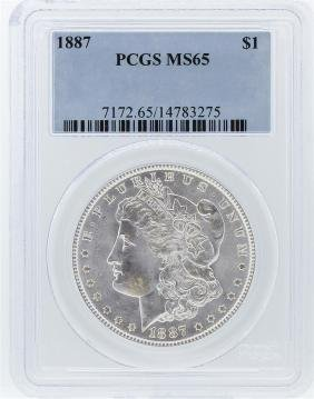 1887 PCGS MS65 Morgan Silver Dollar