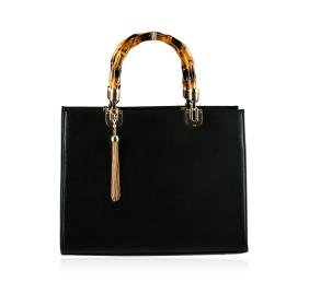 Black Bamboozled Tote Handbag