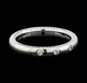 0.10 ctw Diamond Ring - 14KT White Gold