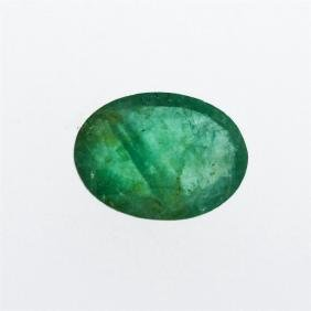 4.24 ct. One Oval Cut Natural Emerald