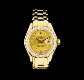 Rolex Datejust Pearlmaster 18KT Yellow Gold Ladies