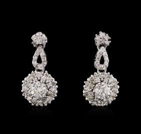 0.84 ctw Diamond Earrings - 14KT White Gold