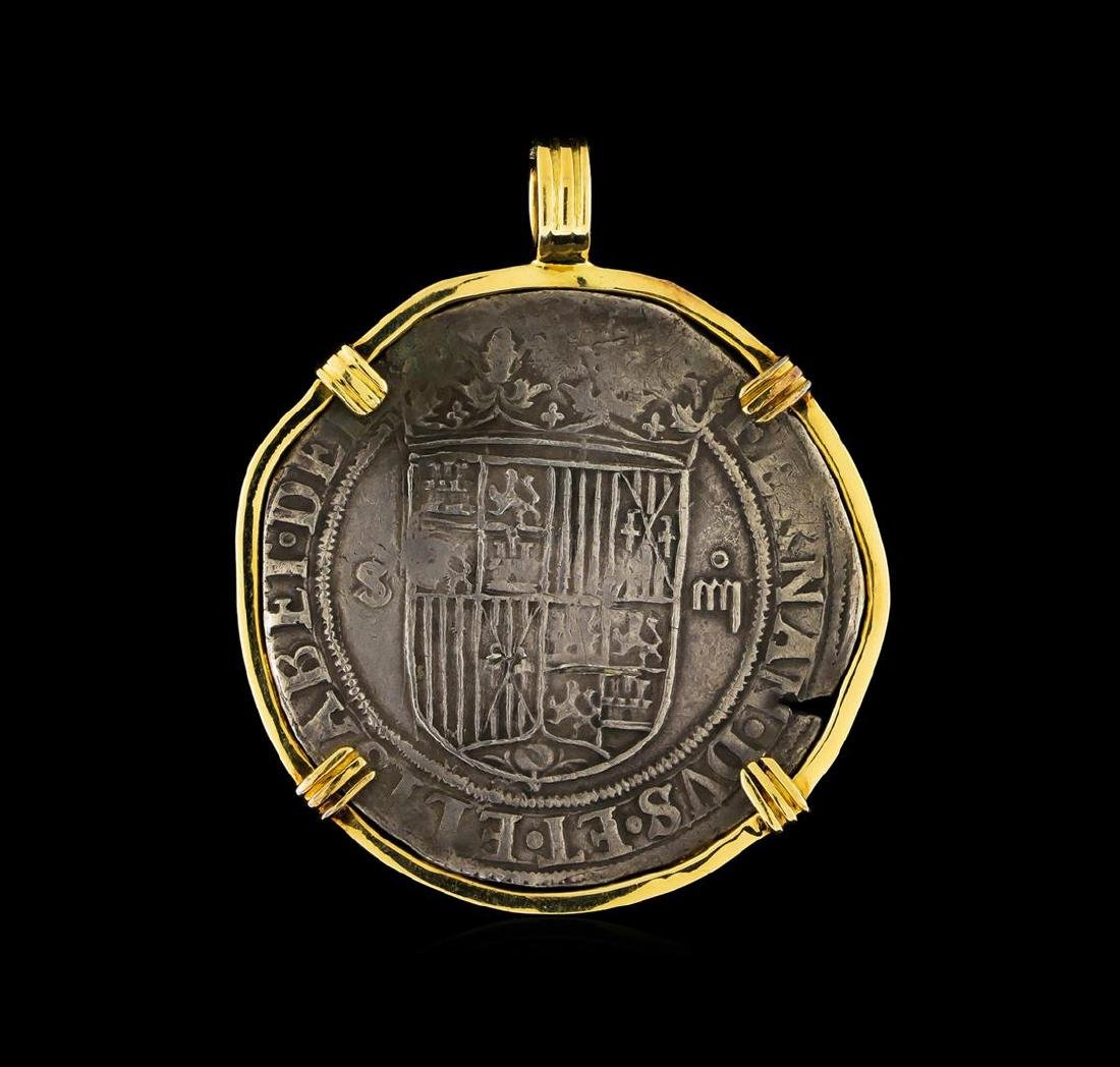 18KT Yellow Gold Vintage Coin Pendant