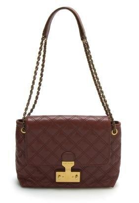 Marc Jacobs Large SingleChestnut Baroque Leather Bag