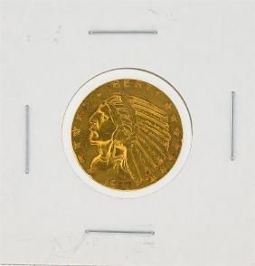 1912 $5 XF Indian Head Half Eagle Gold Coin