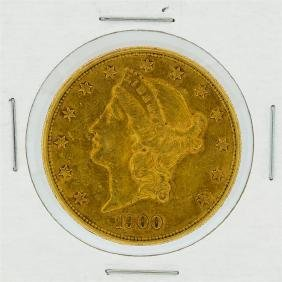 1900-S $20 AU Liberty Head Double Eagle Gold Coin