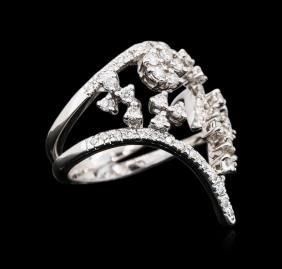 18KT White Gold 1.08 ctw Diamond Ring