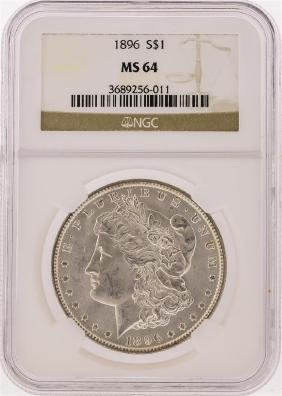 1896 NGC  MS64 Morgan Silver Dollar