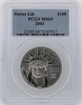 2003 PCGS MS69 $100 Statue of Liberty American Eagle