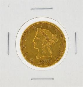 1880 $10 XF Liberty Head Eagle Gold Coin