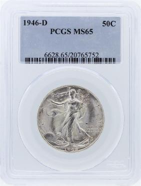 1946-D PCGS MS65 Liberty Walking Half Dollar