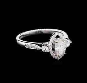 EGL USA Cert 0.74 ctw Diamond Ring - 18KT White Gold