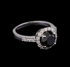 2.80 ctw Black Diamond Ring - 14KT White Gold