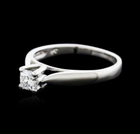 Platinum 0.30 ctw Diamond Solitaire Ring