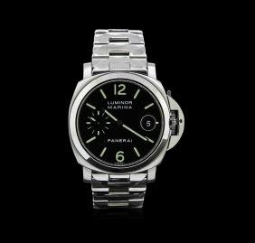 Panerai Stainless Steel Luminor Marina Mens Watch