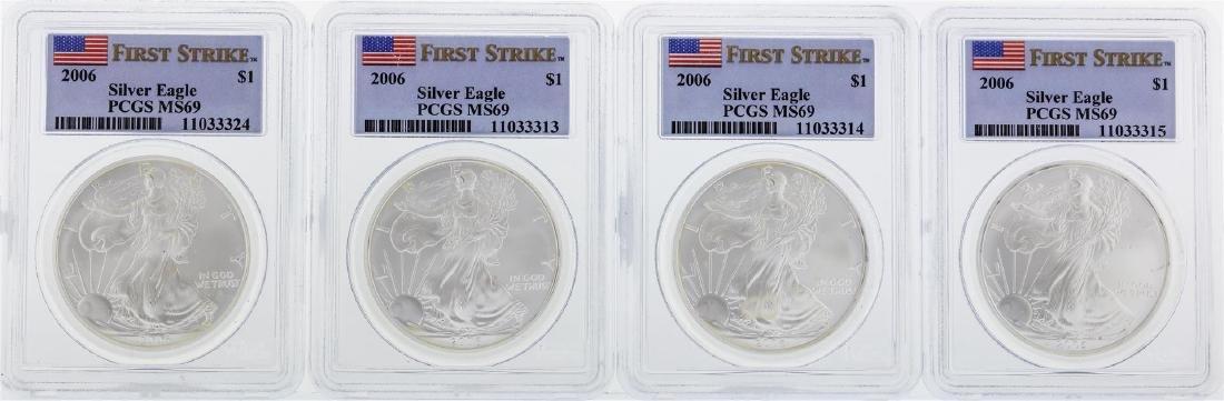 2006 PCGS MS69 Silver Eagle Set
