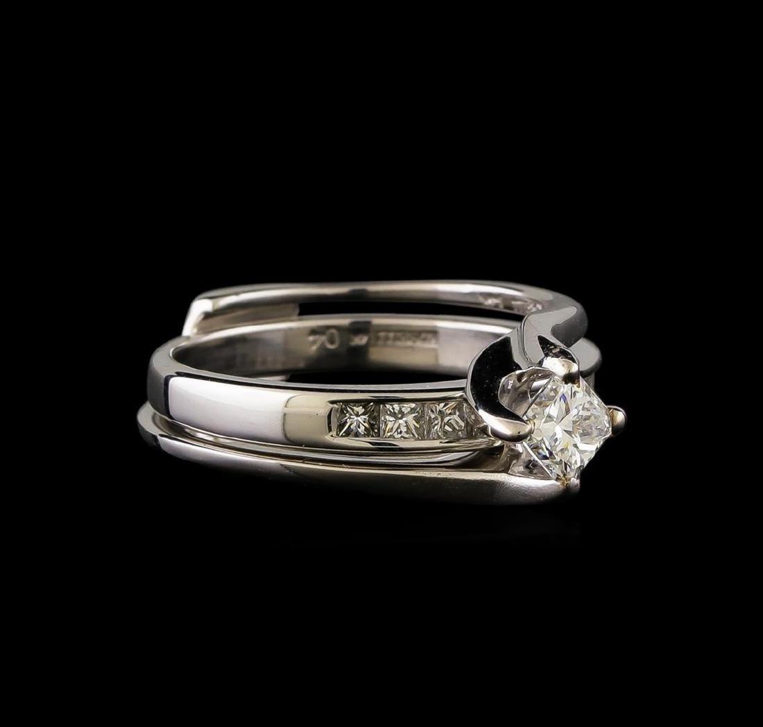 0.60 ctw Diamond Wedding Ring Set - 14KT White Gold