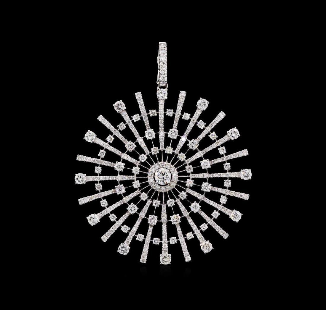 2.78 ctw Diamond Pendant - 18KT White Gold
