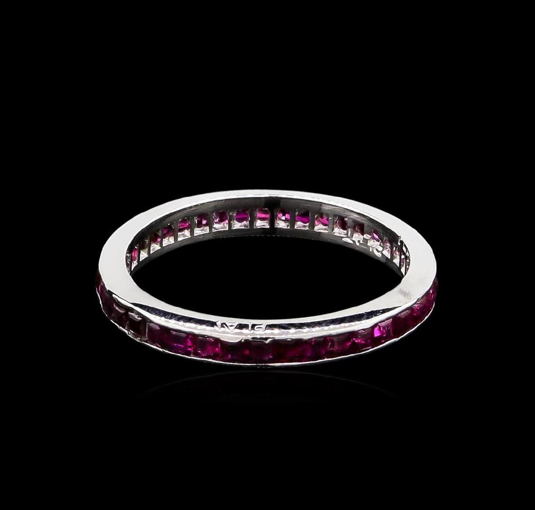 1.00 ctw Ruby Ring - Platinum