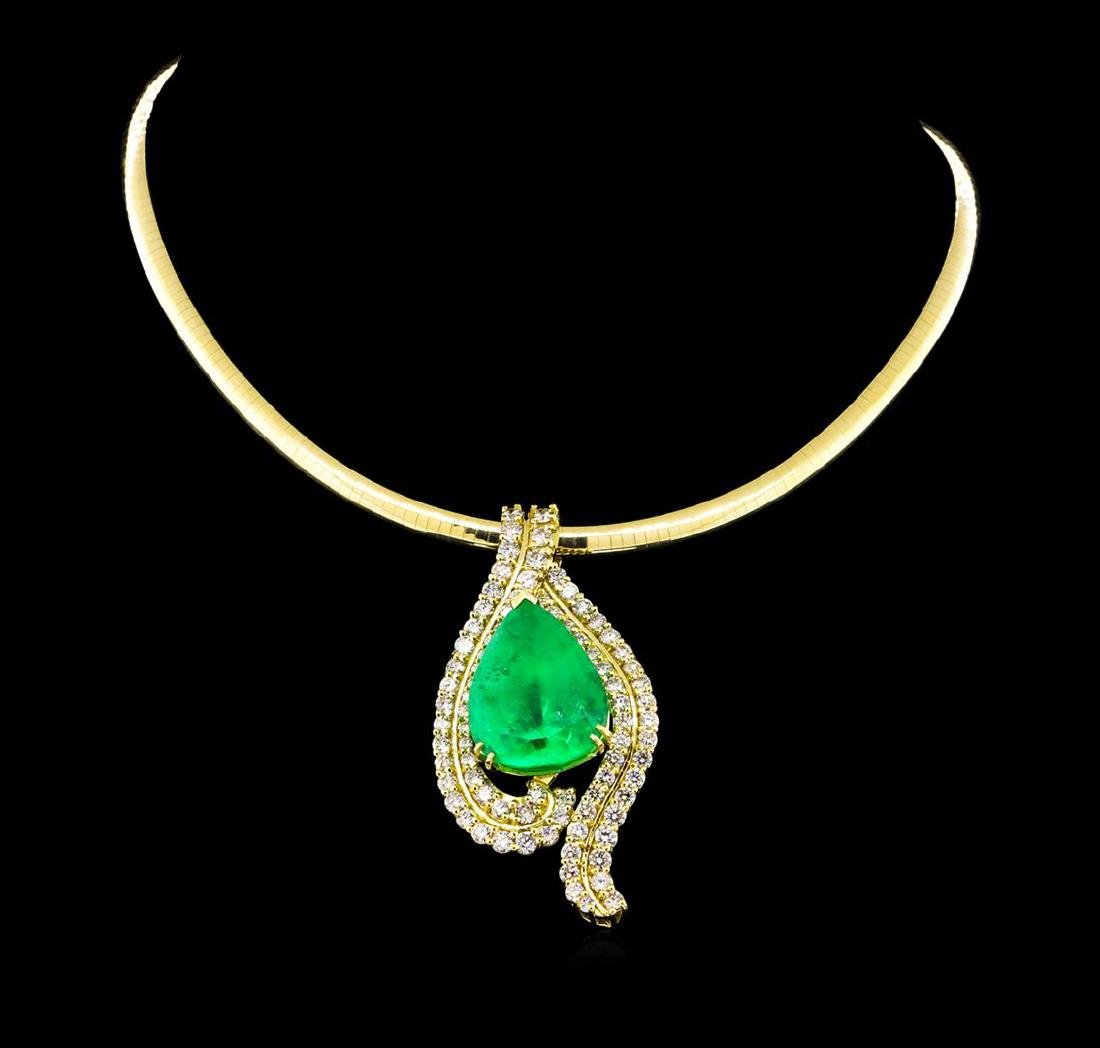 14KT-18KT Yellow Gold GIA Certified 40.62 ctw Emerald &
