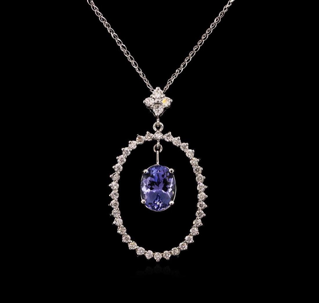 2.69 ctw Tanzanite and Diamond Pendant With Chain -